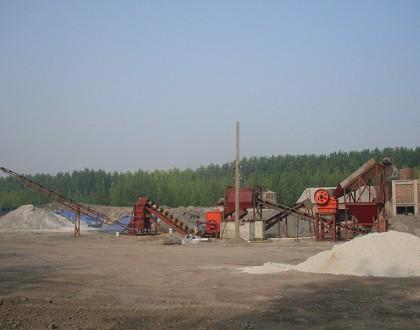 青州本地制砂机工作现场