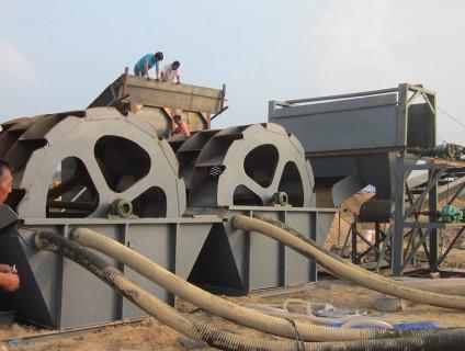 蓬莱洗砂机现场