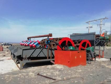 浙江安装中的500吨每小时洗砂机
