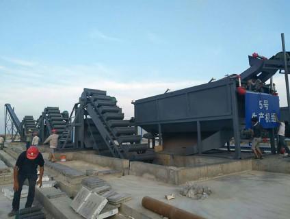 大型海沙淡化基地调试